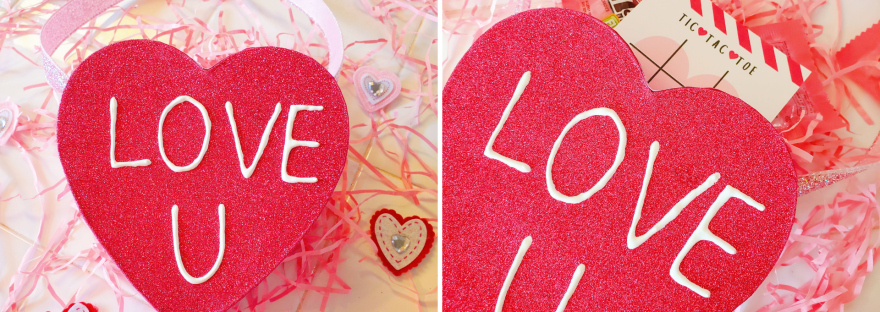 DIY Valentine's Day Card Box Made With a Heart Gift Box - Valentine's Day Heart Bag