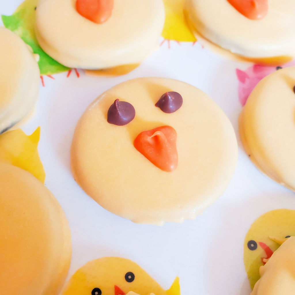 These Chocolate-Dipped Oreo Chicks are the perfect quick and easy sweet treat recipe for spring! Each bite has the perfect amount of crunch within a layer of silky chocolate — plus they are so cute!