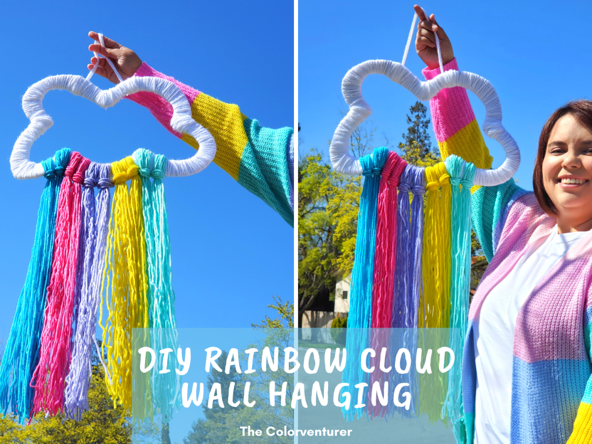 It isn't spring without some April showers! This DIY Rainbow Cloud Wall Hanging isperfect to display on a front door, in an entryway, in the living room, or even in a kid's room for spring!With only a few supplies needed, this spring rainbow craft is perfect for adults this spring!